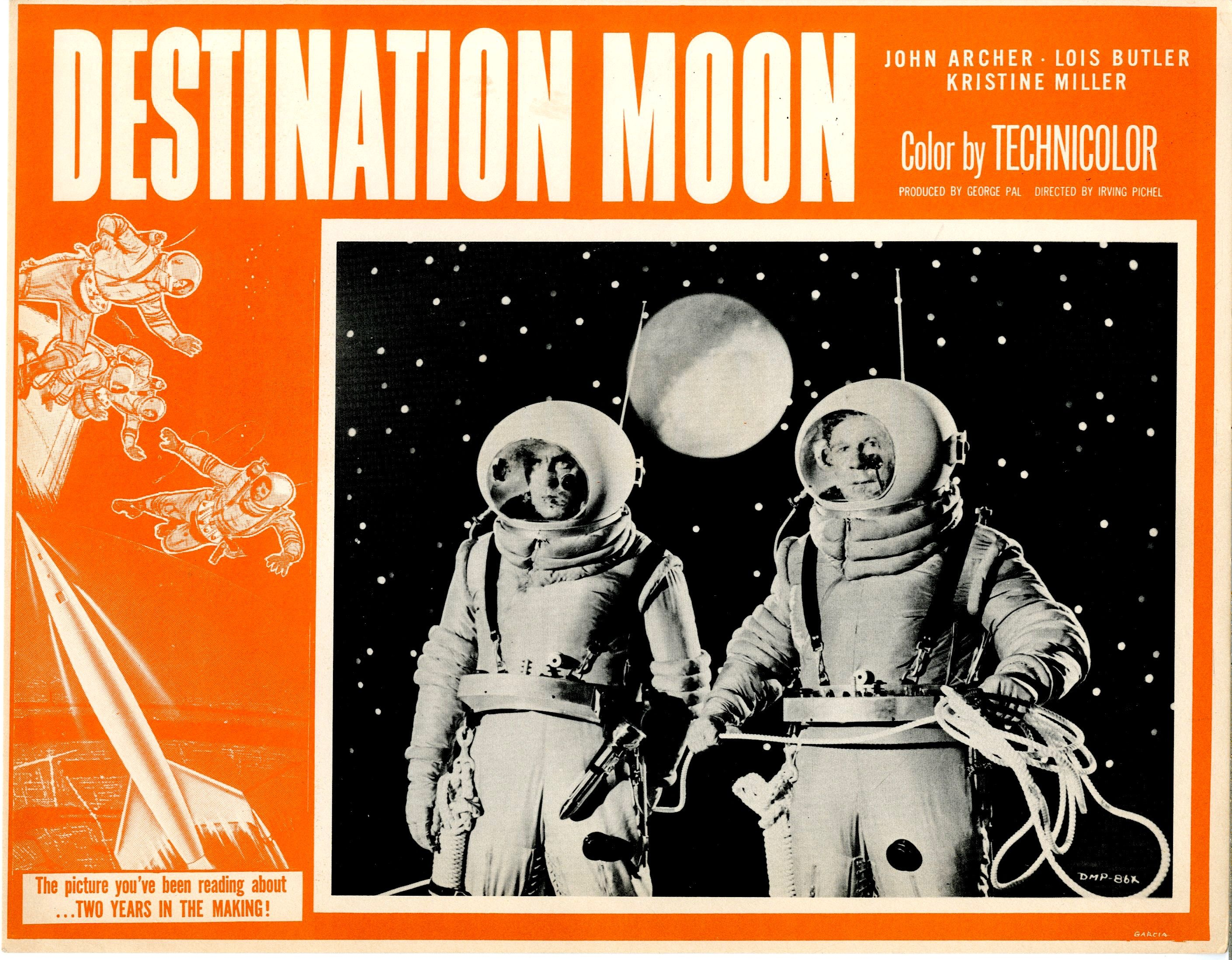 Destination Moon 1950 Lobby Card Horror Posters Science