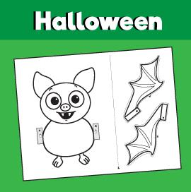 Peekaboo Bat Craft 10 Minutes Of Quality Time Bat Craft October Crafts Kindergarten Crafts