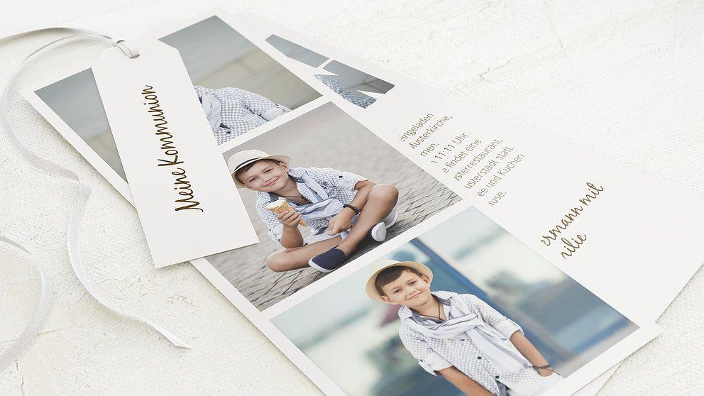 kommunionskarten fototext detail | einladungskarten