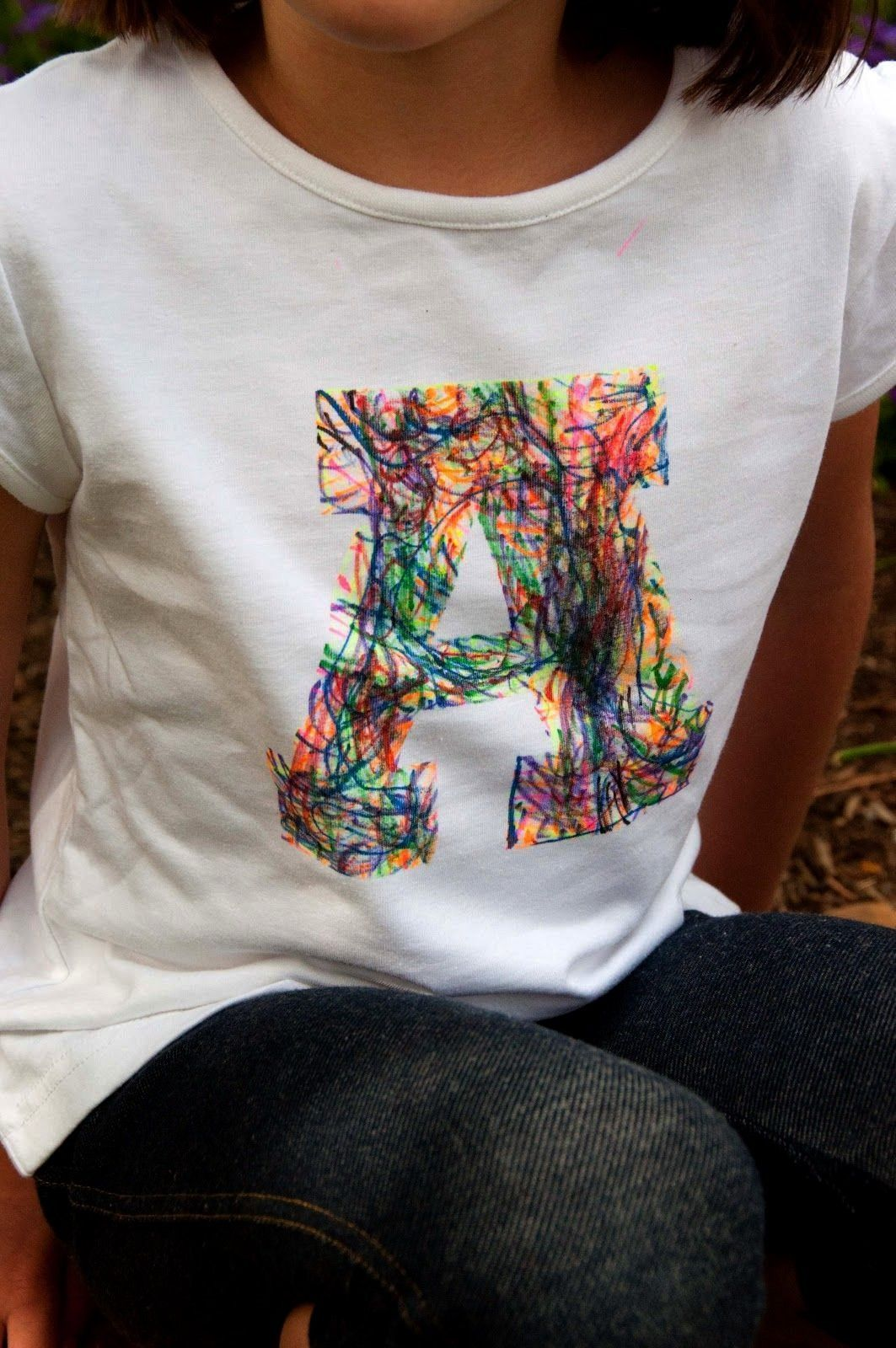 Nest Craft Scribble Initial TShirt Tutorial from  What a fun craft using sharpie fabric markers and freezer paper Our little girl would love it Source by lynarri aestheti...