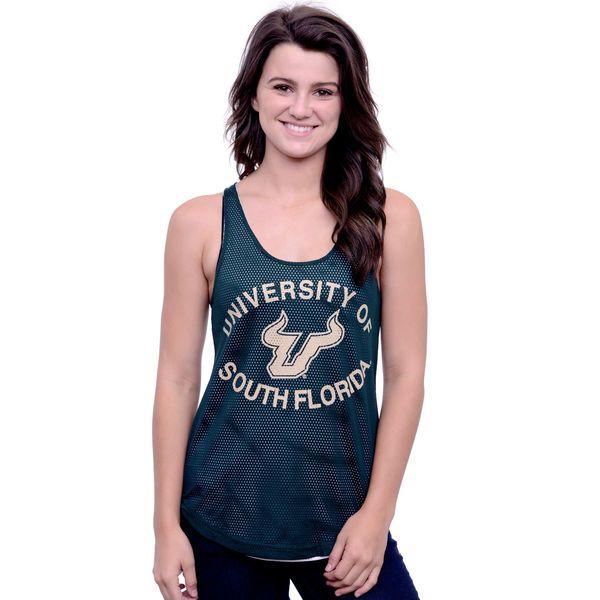 South Florida Bulls Miss Fanatic Women's Double the Fun Mesh Reversible Tank Top - Green - $22.99