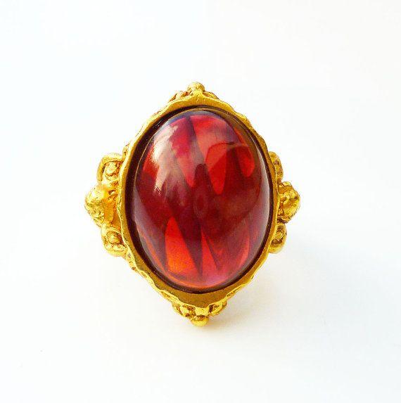 Elizabeth Taylor for Avon Ring Gilded Age Faux by zephyrvintage