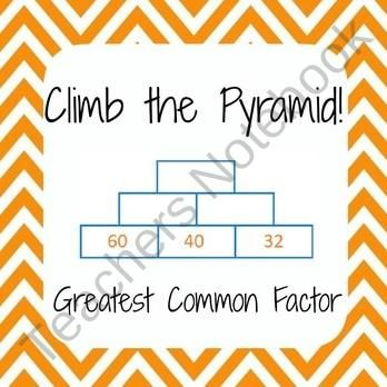Gcf greatest common factor math worksheets find lots of fun math this fun graphic organizer activity will help your students combine like terms to simplify expressions your students can race to the top of these 6 ccuart Gallery