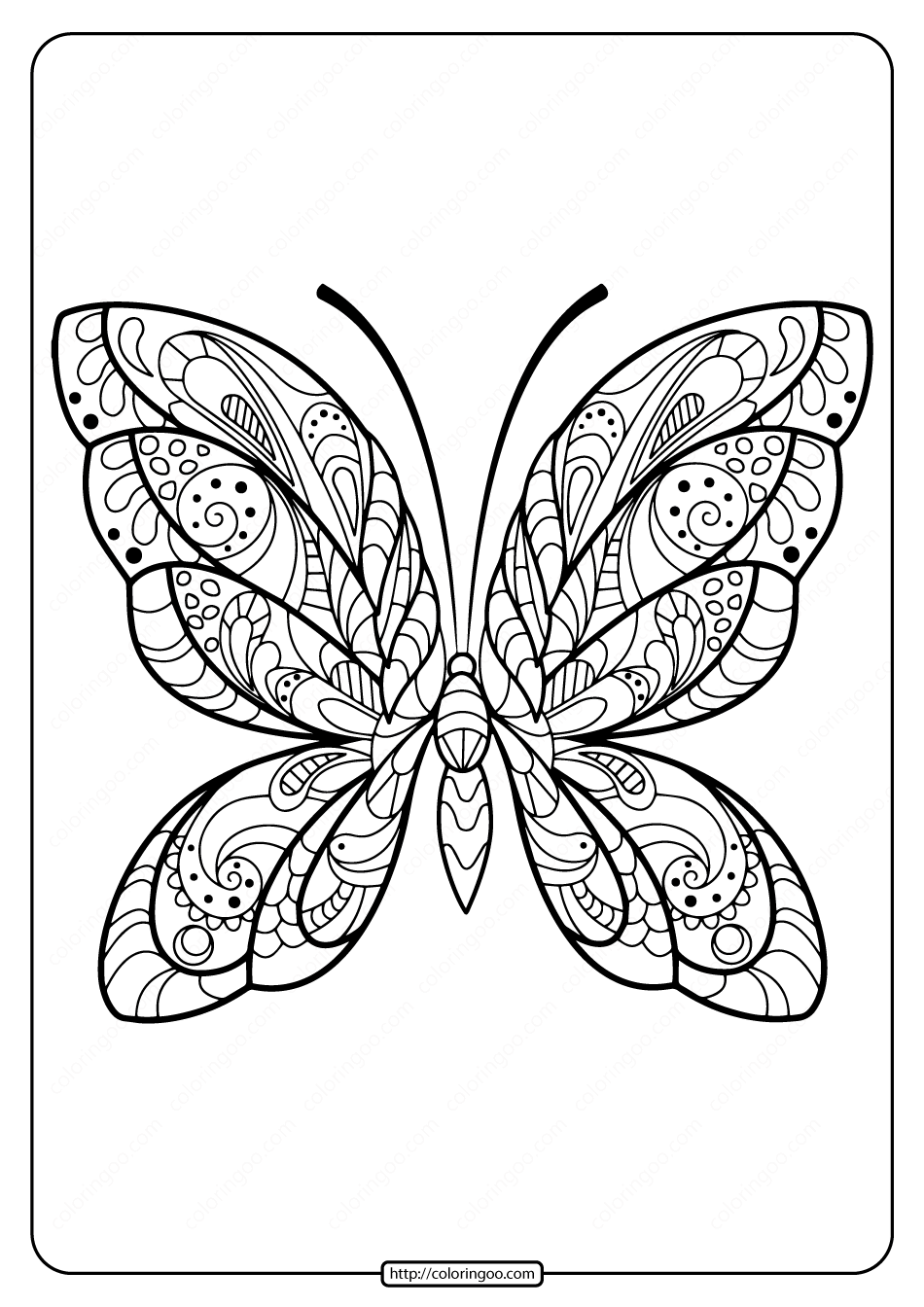 Printable Butterfly Mandala Pdf Coloring Pages 38 Insect Coloring Pages Butterfly Coloring Page Pattern Coloring Pages