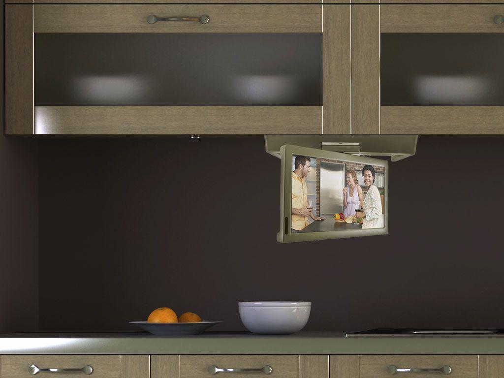 Under Cabinet Tvs Kitchen Visua 15 4 Under Cabinet Flip Down Kitchen Tv With Dvd Cliff Kitchen