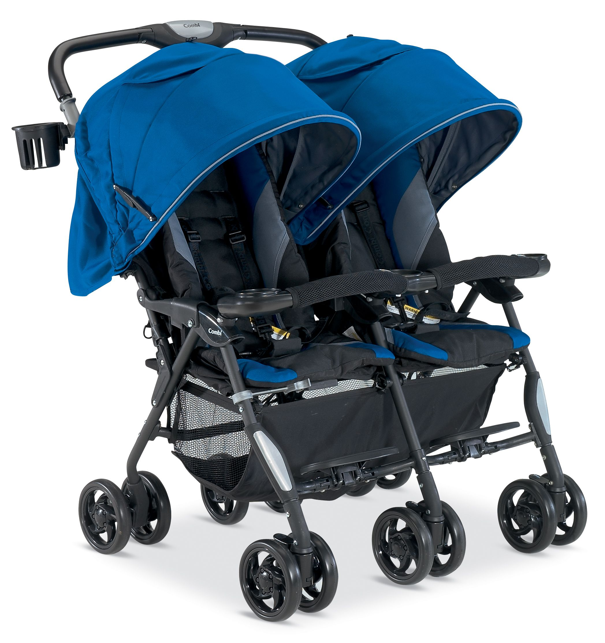 The Combi Twin Cosmo in Royal Blue Twin strollers