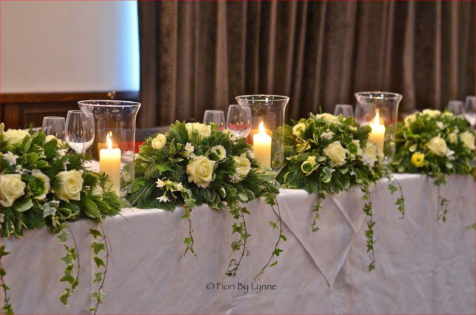 Wedding Top Table Flower Arrangements Mia Bella Bridal Gallery