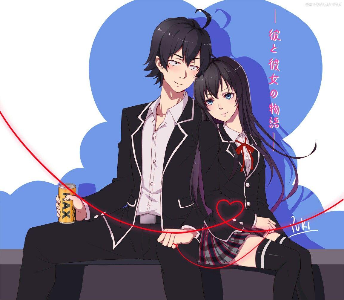 Hikigaya Hachiman And Yukinoshita Yukino Oregairu Yahari Ore No Seishun Love Come Wa Machigatteiru Animasi Gambar