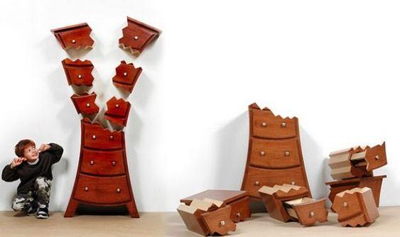 Móveis infantis criativos. Designer canadense Judson Beaumont.