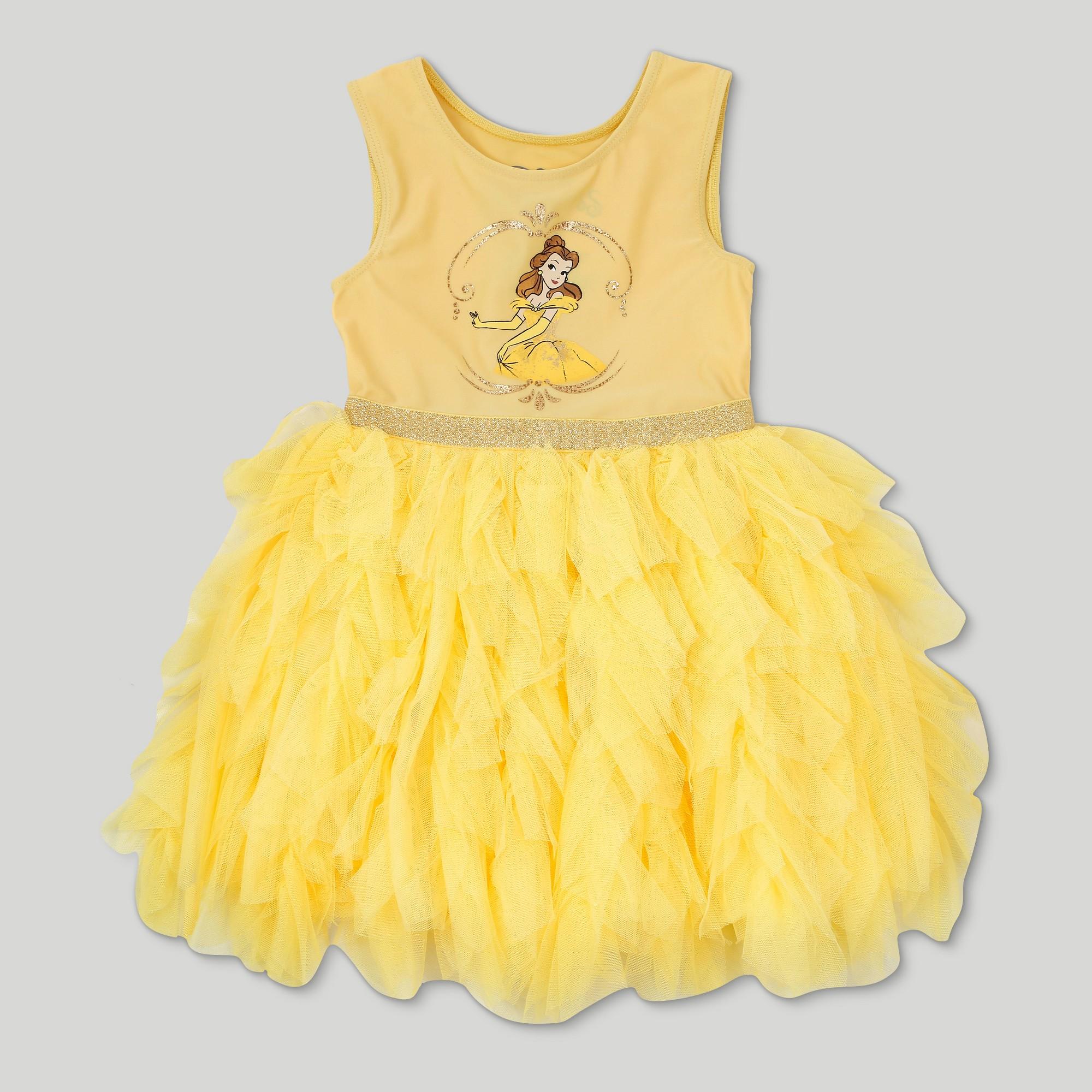 Yellow dress like belle  Toddler Girlsu Disney Beauty and the Beast Belle Sleeveless Tutu