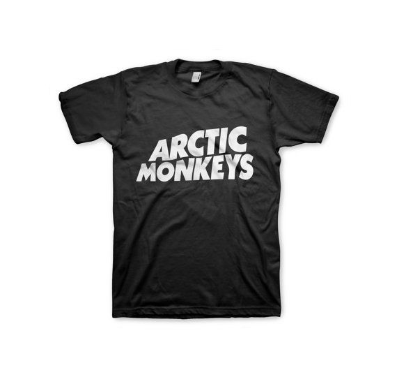 Arctic Monkeys Shirt Band Logo Men Woman Color Black by WeeStore, $17.00