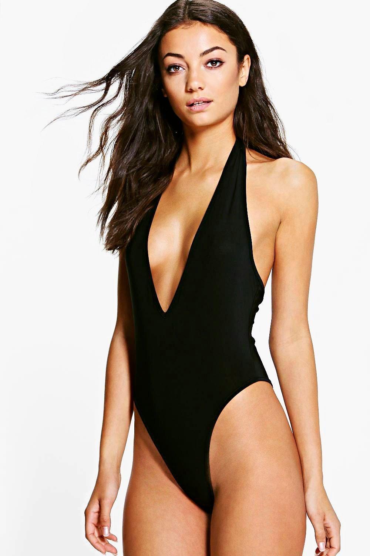 4d17e270945 Tall Extreme High Leg Plunge Thong Bodysuit   Want.   Womens ...
