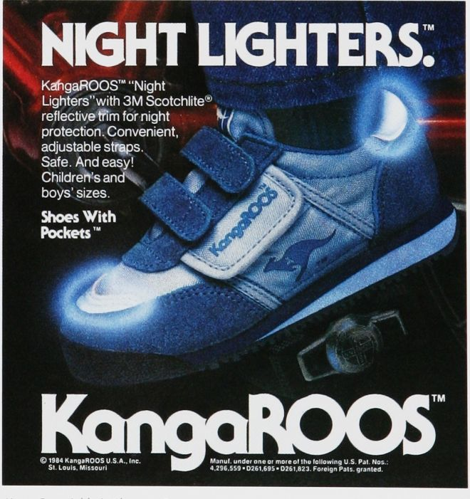 innovative design 7ad61 7683a Kangaroos (Roos) Velcro shoes with pockets, 1980s