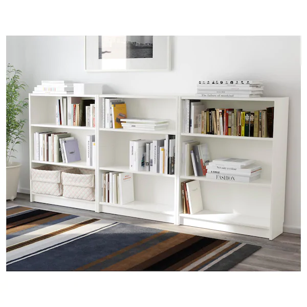Billy Bibliotheque Blanc 240x28x106 Cm Ikea White Bookcase Low Bookcase Bookshelves In Bedroom