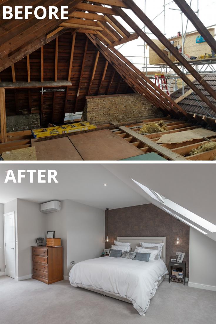 Before After Loft Conversion In Ealing Loft Conversion Before And After Loft Conversion Bedroom Loft Conversion