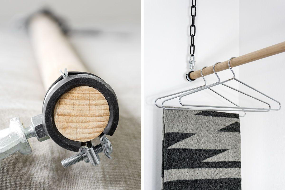 diy pinterest diy kleiderstange kleiderstange und willkommen. Black Bedroom Furniture Sets. Home Design Ideas