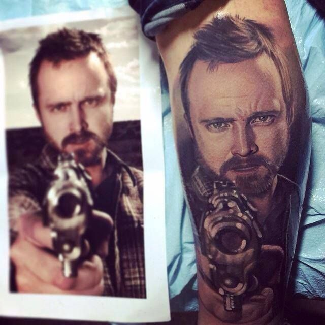 6d73ecb98 Tattoos #Inked Aaron Paul / Breaking Bad tattoo/ Portrait | Portrait ...