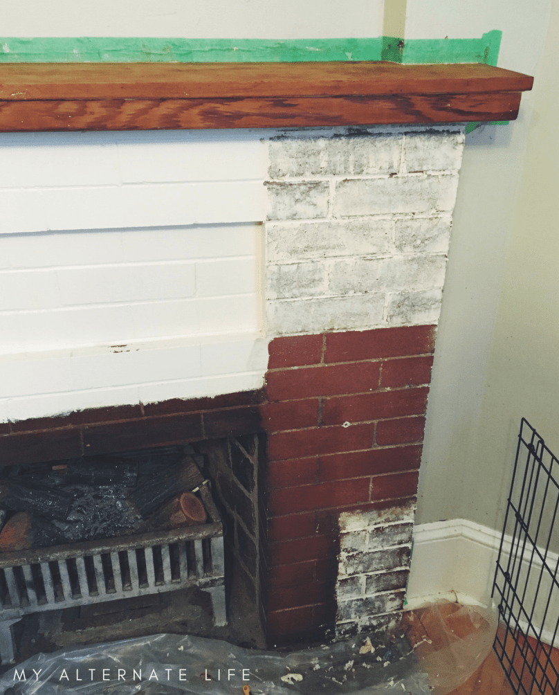 How To Strip Paint From Brick Fireplace My Alternate Life Brick Fireplace Stripping Paint Fireplace