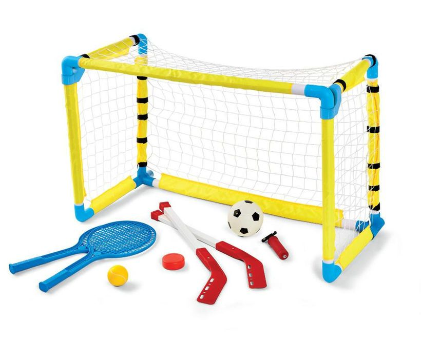 Stats Play 3 In 1 Combo Set Soccer Tennis Hockey Fun Sports Sports Indoor Activities