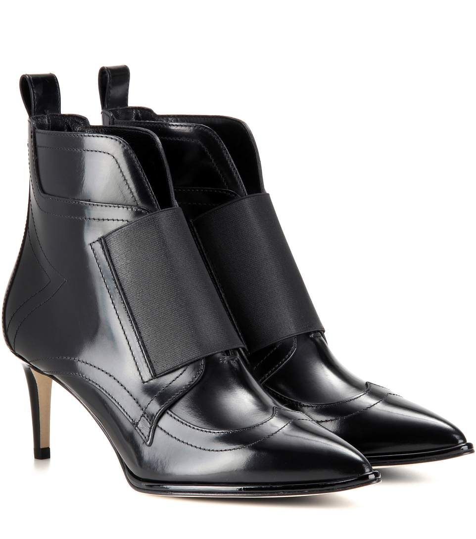 f357bf2741e9 JIMMY CHOO Mazzy 65 Leather Ankle Boots. #jimmychoo #shoes #boots ...