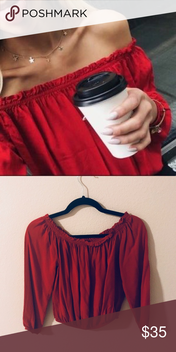 a80a9e4d6c767 Brandy Melville Red Maura Top Brand new with tags. No trades. ONE SIZE.