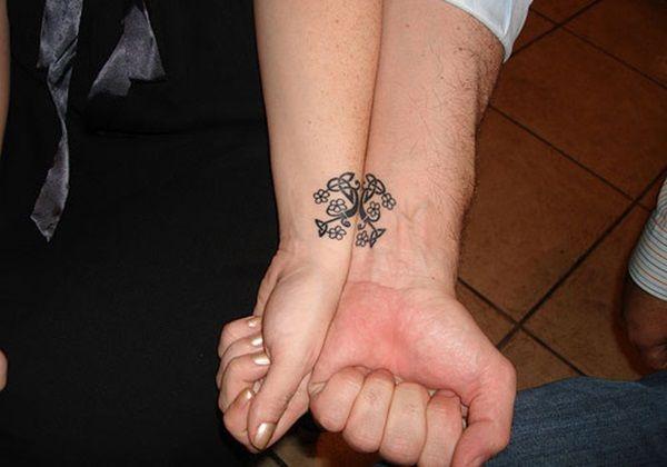Les tatouages pour couples que partageons aujourd\u0027hui sont des présages  d\u0027un amour indéfectible et éternel. Un tatouage pour couple pour la Saint  Valentin ?
