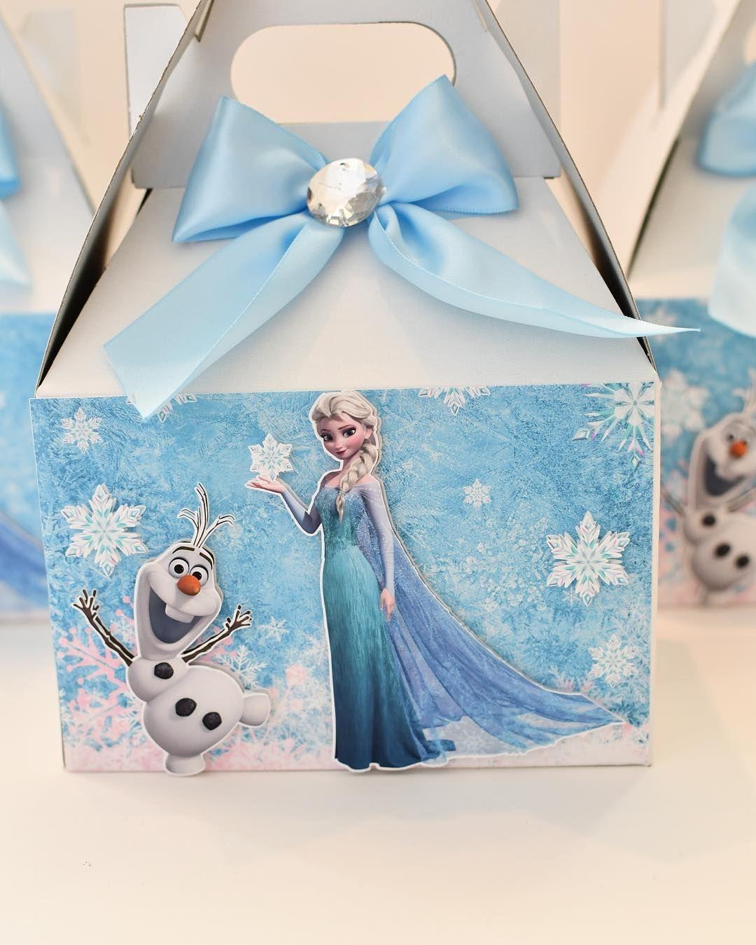 "Lorena Vargas on Instagram ""Frozen favor boxes…"" Frozen"