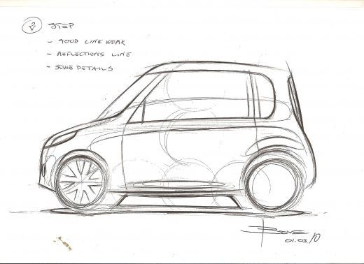 How To Draw A Simple Side View Car Sketch Basic Steps Sachiko