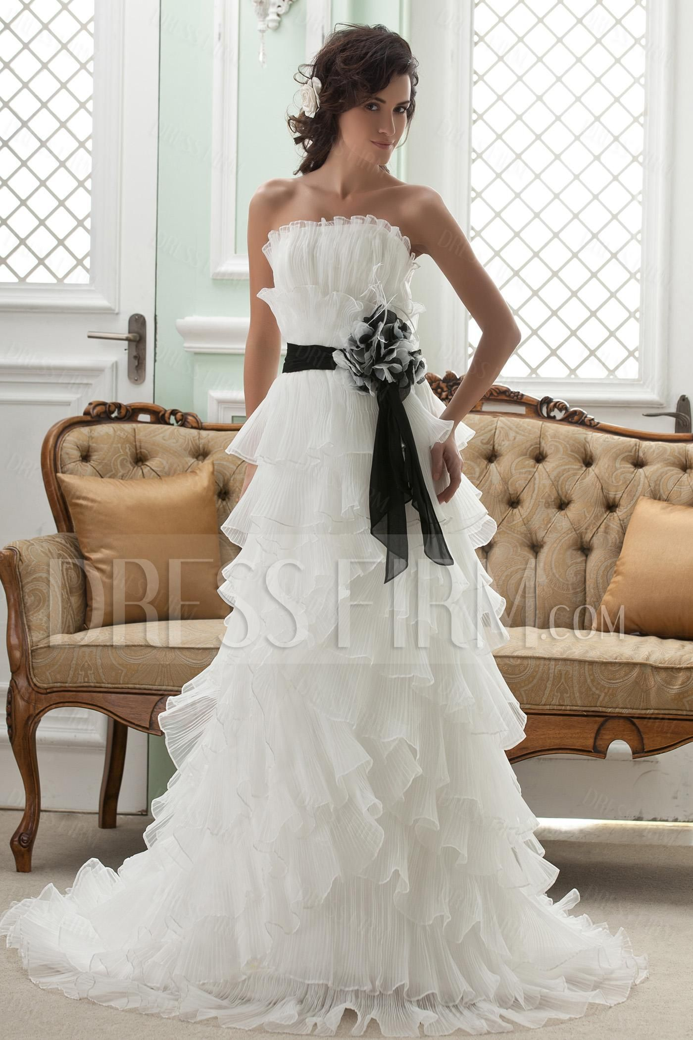 Amazing Empire Strapless Sleeveless Court Wedding Dress