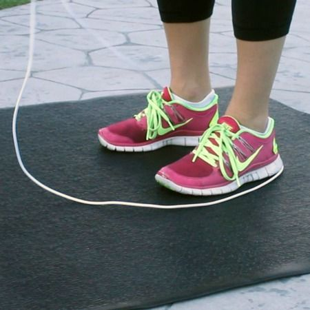 Portable Fitness And Jump Rope Mat Portable Fitness No Equipment Workout Jump Rope