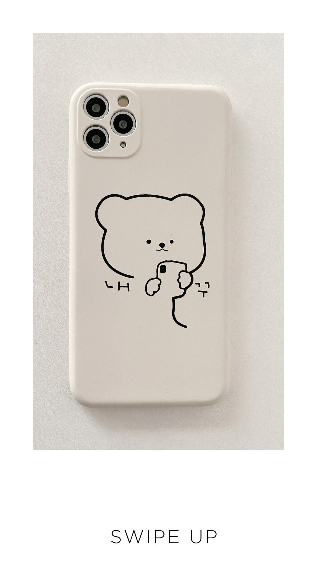 Cute Protective Bear iPhone Case