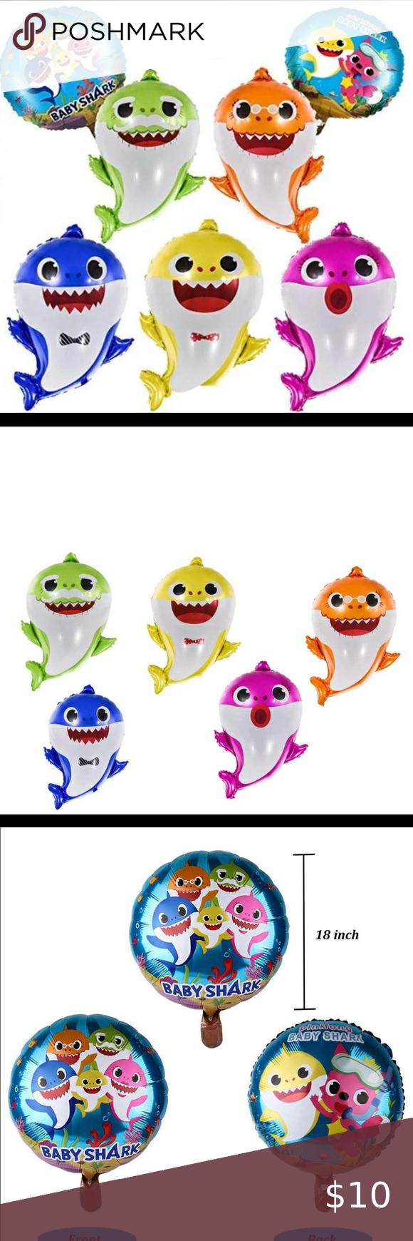 Baby shark family balloons 7pcs New. Baby shark family ...