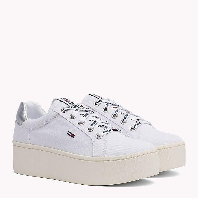 White Jeans De Zapatillas Plataforma Plana Tommy kn0OXZN8wP