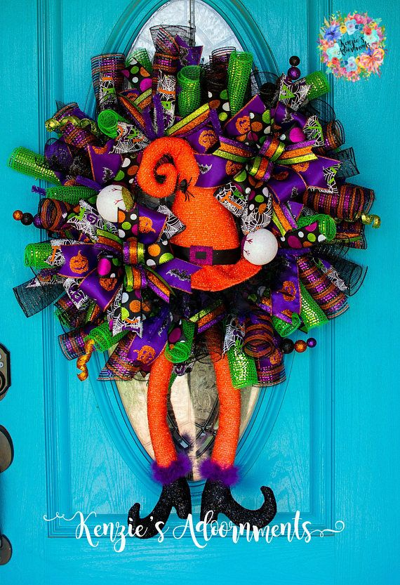 Pin by d w on Halloween Pinterest Witch wreath, Wreaths and - halloween decorations witch