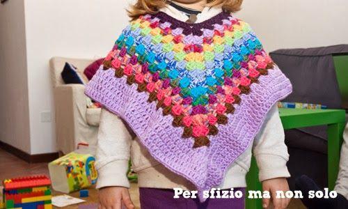 Crochet Poncho Per Bambina In Lana A Uncinetto Bambino Uncinetto