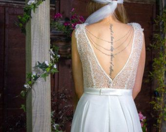 wedding dress chains back - Google Search