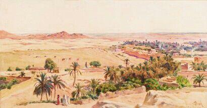Algerie Peintre Francais Alphonse Birck 1859 1942 Aquarelle