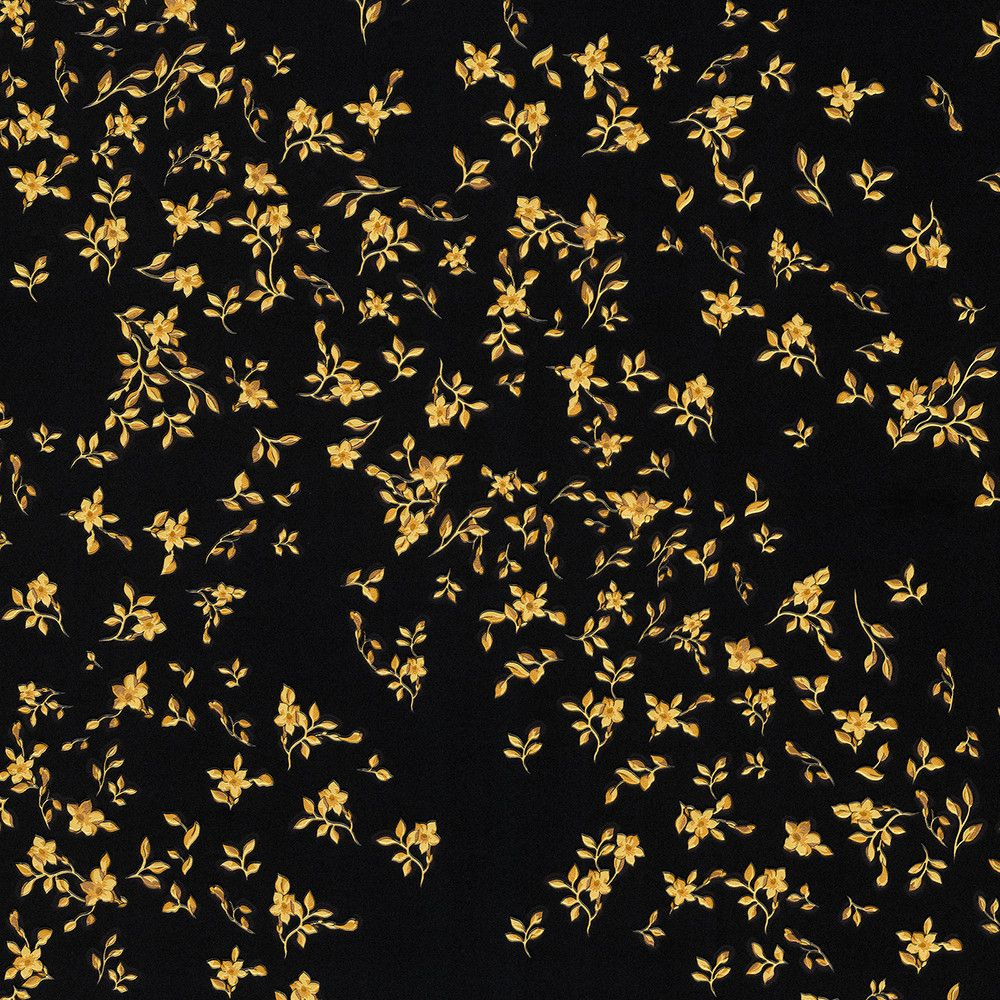 Discover the versace barocco flowers wallpaper design 3 for Black wallpaper with design