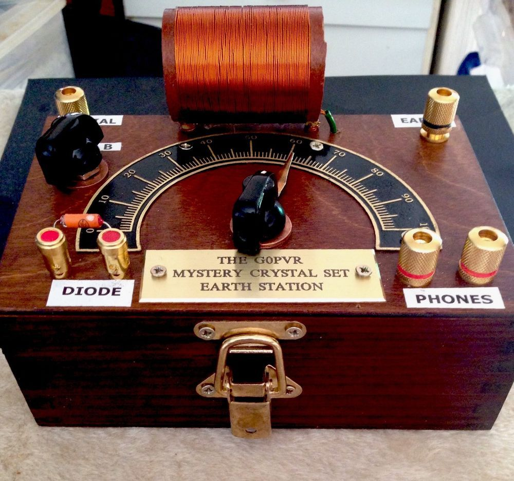 Crystal Set Radio Receiver, Mystery Coil, Hand Made Artisan