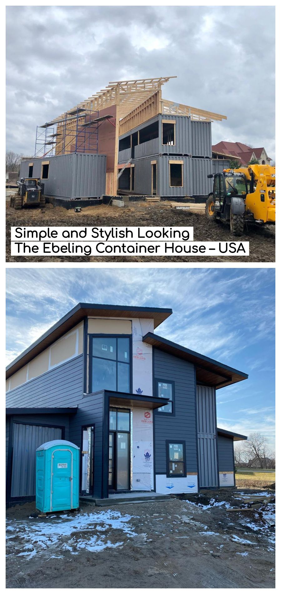 Simple and Stylish Looking The Ebeling Container House – Detroit, USA