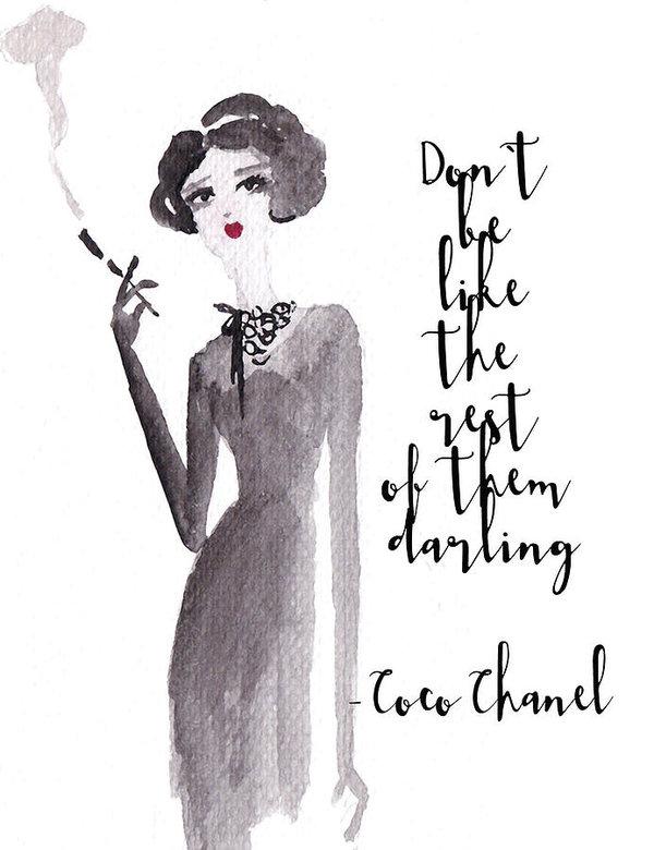 Coco Says Art Print By Elizabeth Szekely In 2020 Coco Chanel Quotes Chanel Quotes Chanel Illustration
