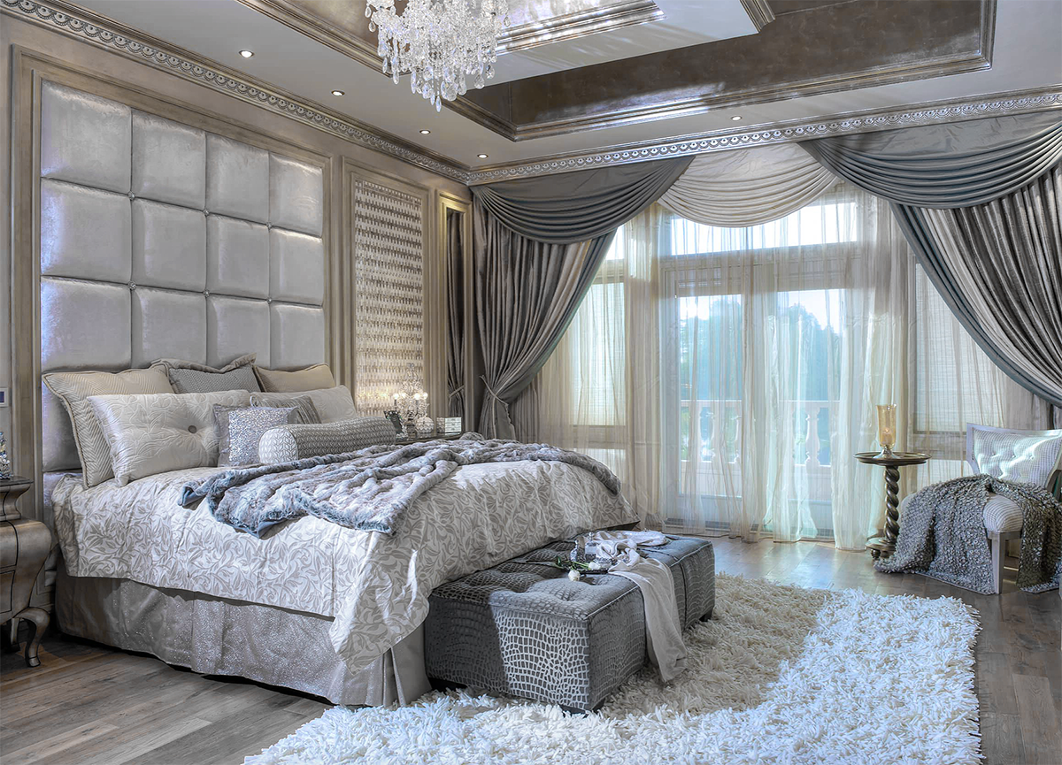 Gorgeous Victorian style girly luxury bedroom decor with ...