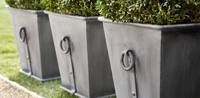 Faux Zinc Planter Boxes ~ for a Dollar! (she Jeanie is part of garden Planters Boxes - As I was decorating my front porch for Fall, I realized that I had no containers, pots or planters for the mums  I'm not much of a gardener, flower or plant person  I mean, I love flowers and plants, but they don't love me back  I have the brownest thumb ever  So therefore, I don't have all the accessories, gadgets, pots, planters, etc  But what I do have are three mums (that are still alive  for the most part) for my front porch that need a home  Now I know I'll plant them soon, hoping they'll come back next fall, but they won't  I plant three every year and only ONE has ever come back sigh  But in the meantime, I'd like to put them into something decorative for the front porch  Have you priced the pretty urns, pots and planters lately  Holy moly! I especially like the Zinc ones that I saw at Restoration Hardware, starting at $205  I don't think that's in my budget  But, I came up with something that totally does    and, it's just a dollar!
