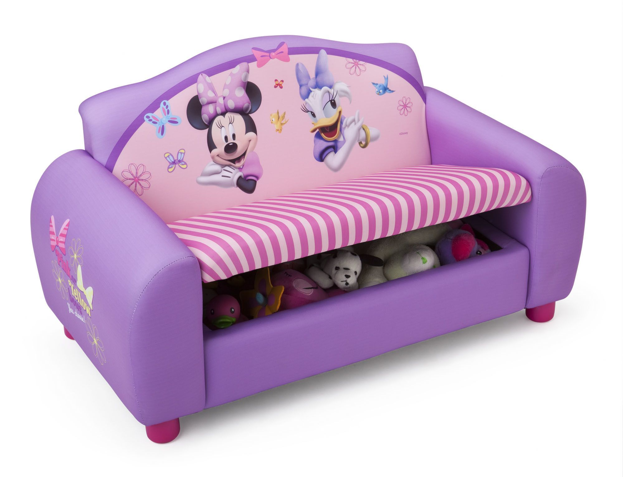 Disney Minnie Mouse Kids Storage Sofa In Purple