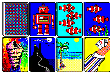 look for an ascot... a big cigar Solitaire cards, Pixel