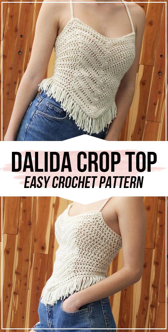 crochet Dalida Crop Top pattern