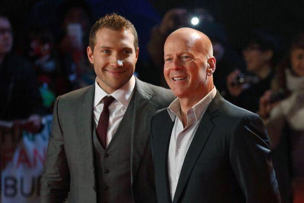 Jai Courtney and Bruce Willis