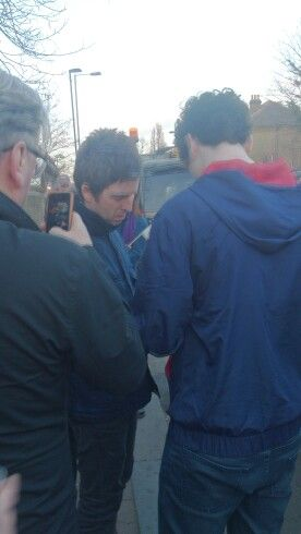 Up close to Noel Gallagher when I seen him in a secret gig on South London 27/03/15