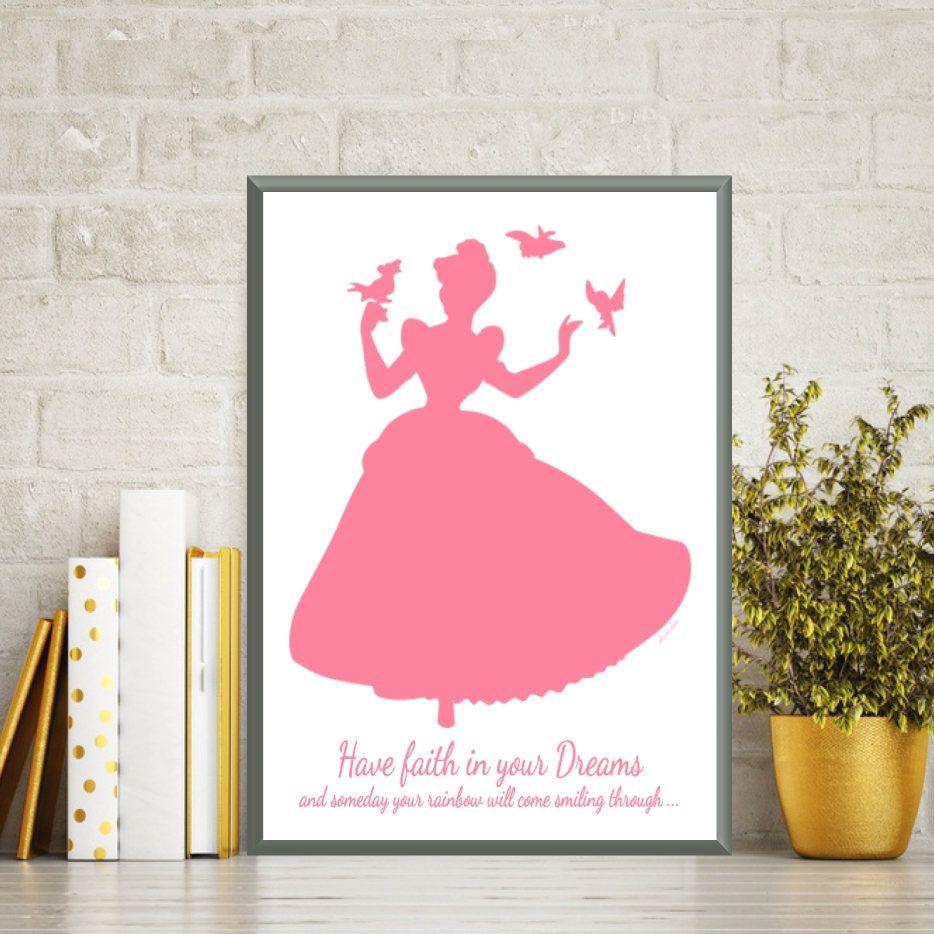 Disney Princess Cinderella Princess Poster Disney Print Disney