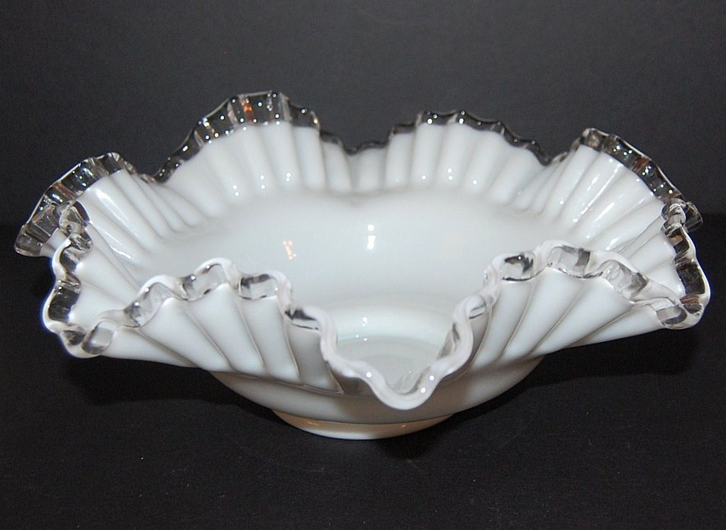 """Fenton ~ Silver Crest Glass Bon Bon Dish.   Bon Bon dish to match the footed dishes.  11"""" diameter and 3-3/4"""" high.  $28 on Ruby Lane.  May 26, 2014"""